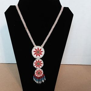Jewelry - VTG. Native American Beaded Necklace (Seed Bead)